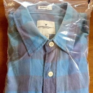AMERICAN EAGLE MEN'S SHIRT MEDIUM TALL EUC